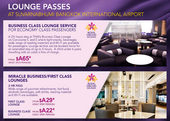 Thai Airways Now Sells Lounge Passes For Their Bangkok Based
