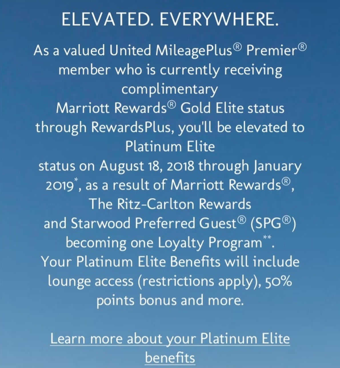 United Airlines Mileage Plus >> United Airlines Airlines Premier Members Marriott Gold ...