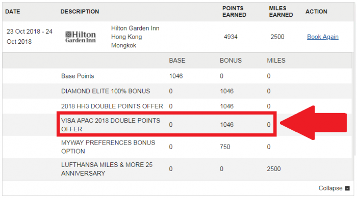 Hilton Honors Asia-Pacific Double Points October 1 – December 31, 2018 UPDATE