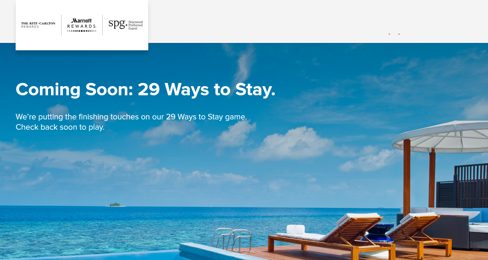 Marriott Rewards 29 Ways Sweepstakes With More Than 2,000,000 Prizes