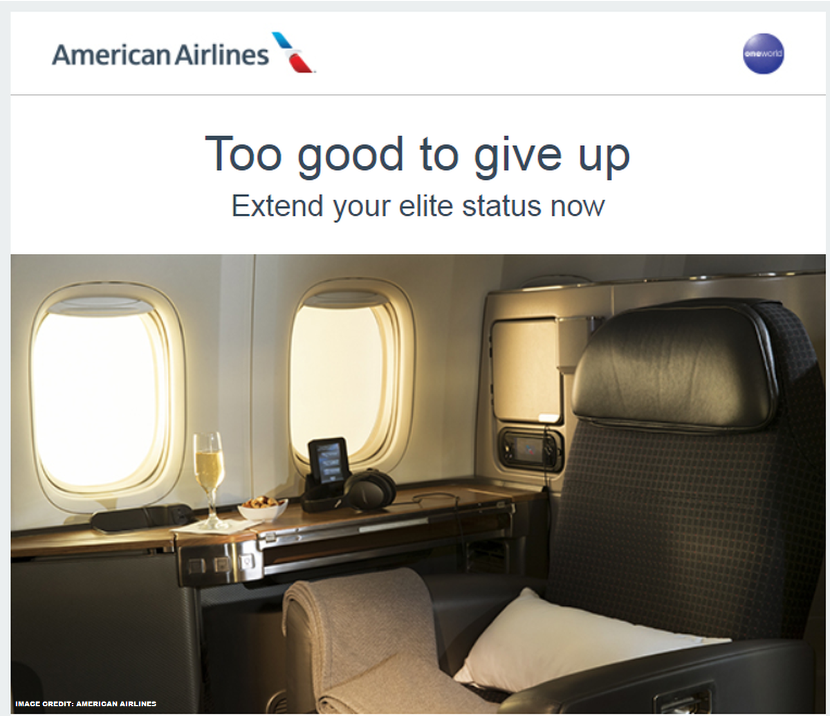 American Airline Advantage Furniture: American Airlines AAdvantage Extend & Boost Your Elite