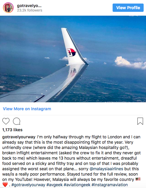 Malaysia Airlines Are Digging Themselves A Hole After Feud With