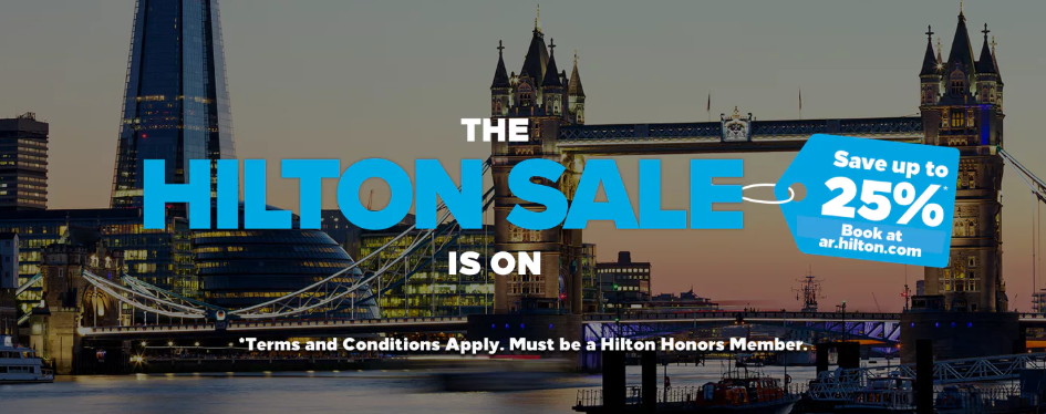 PREVIEW: Hilton Honors 25% Off Europe, Middle East & Africa Winter