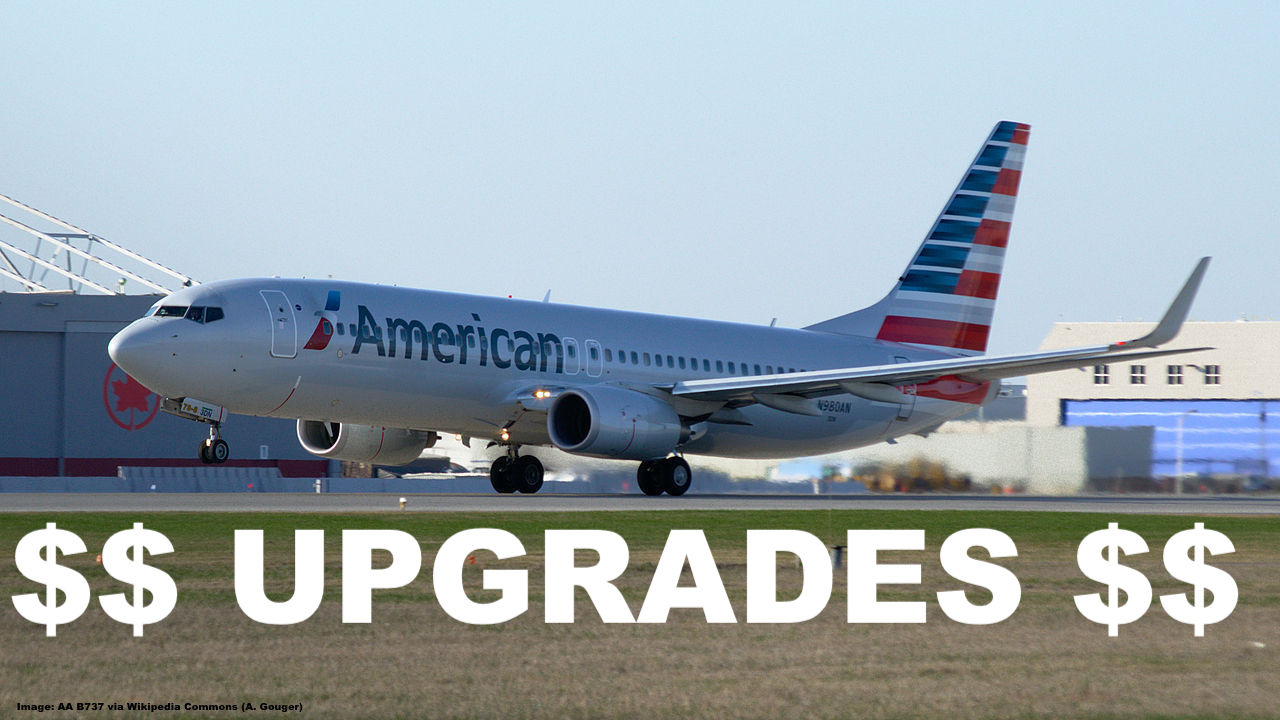 American Airlines Affordable Cash Upgrades During Online