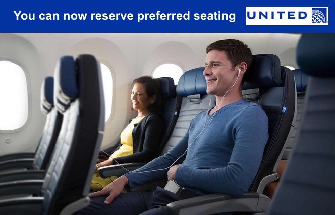 United Airlines Introduces 'Preferred Seating' Right Behind