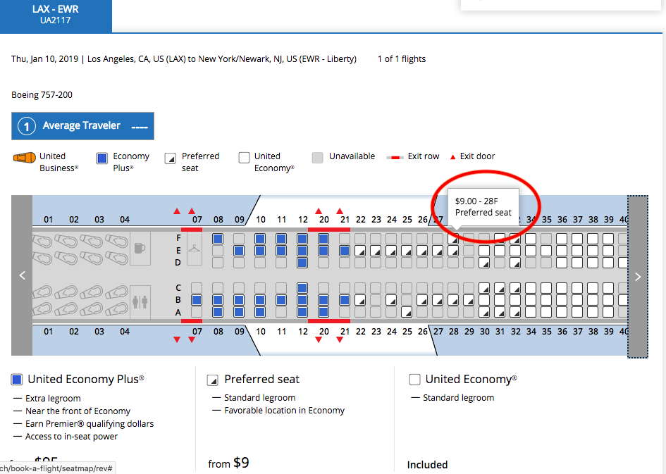 United Airlines Seat Assignment