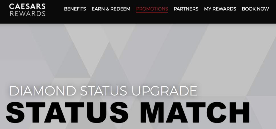 It's Back: Caesars Rewards Match To Diamond Status From