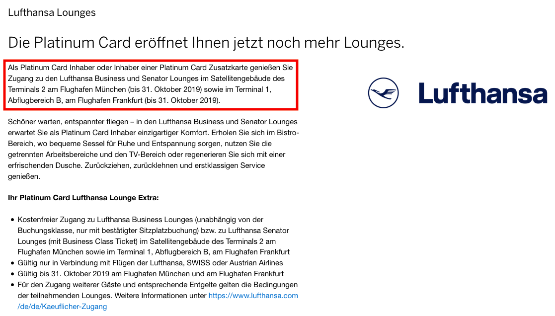 Extended: Access To Lufthansa Lounges In Frankfurt & Munich