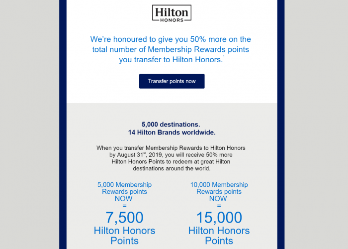 American Express Hilton Honors Conversion Offer Body