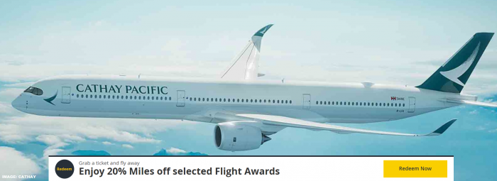Cathay Pacific Asia Miles Discount Awards