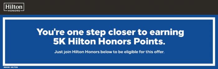 Hilton Honors New Member Bonus 2019