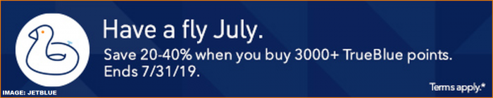 JetBlue TrueBlue Buy Points July 2019