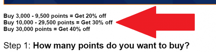JetBlue TrueBlue Buy Points July 2019 Bonus Table