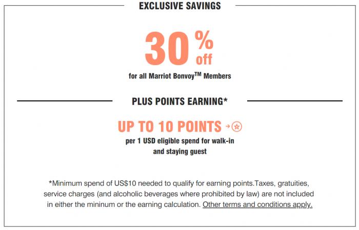 Marriott Bonvoy Restaurants & Bar Benefits Greater China