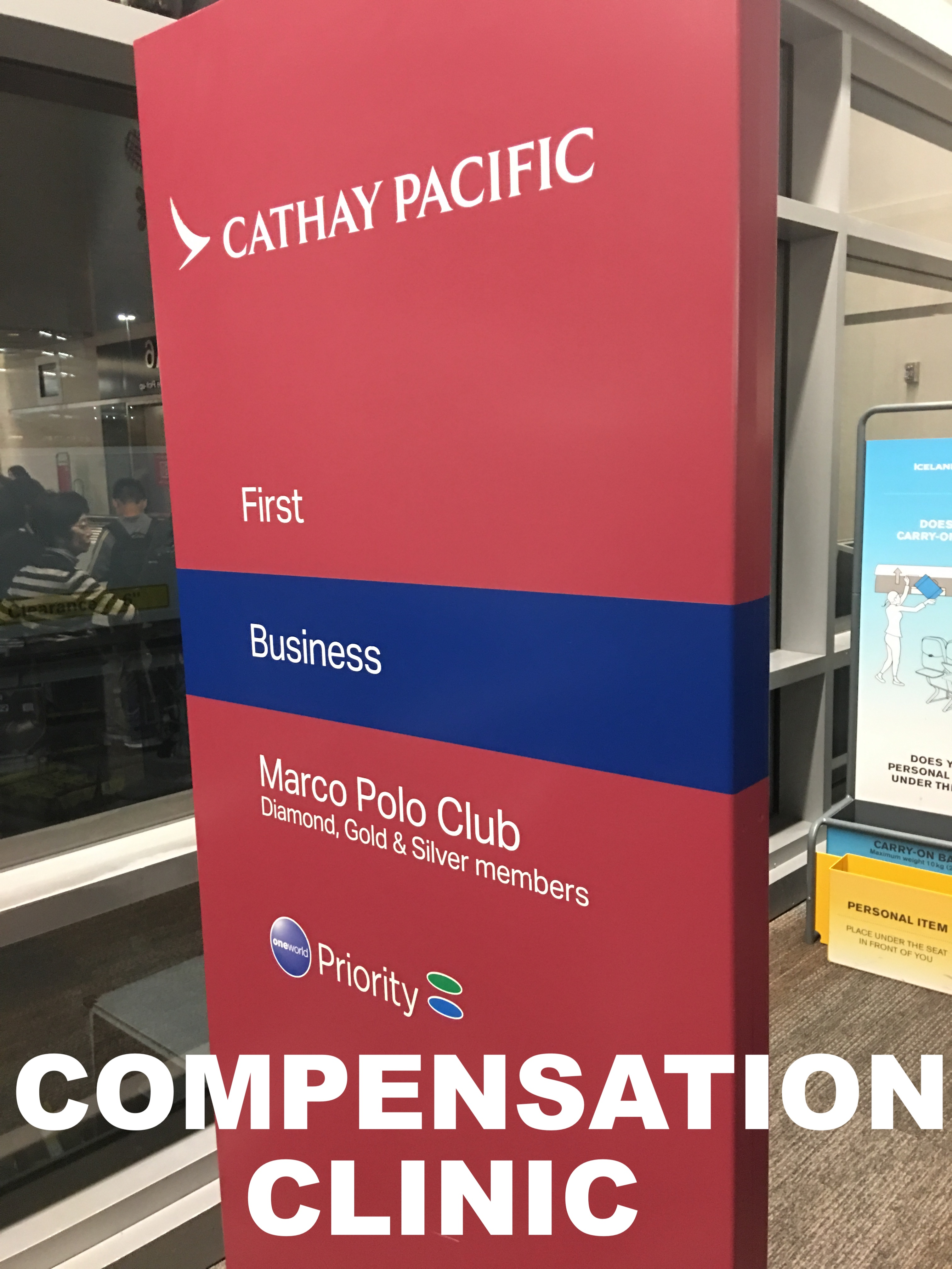 Compensation Clinic: Cathay Pacific First Class Problems
