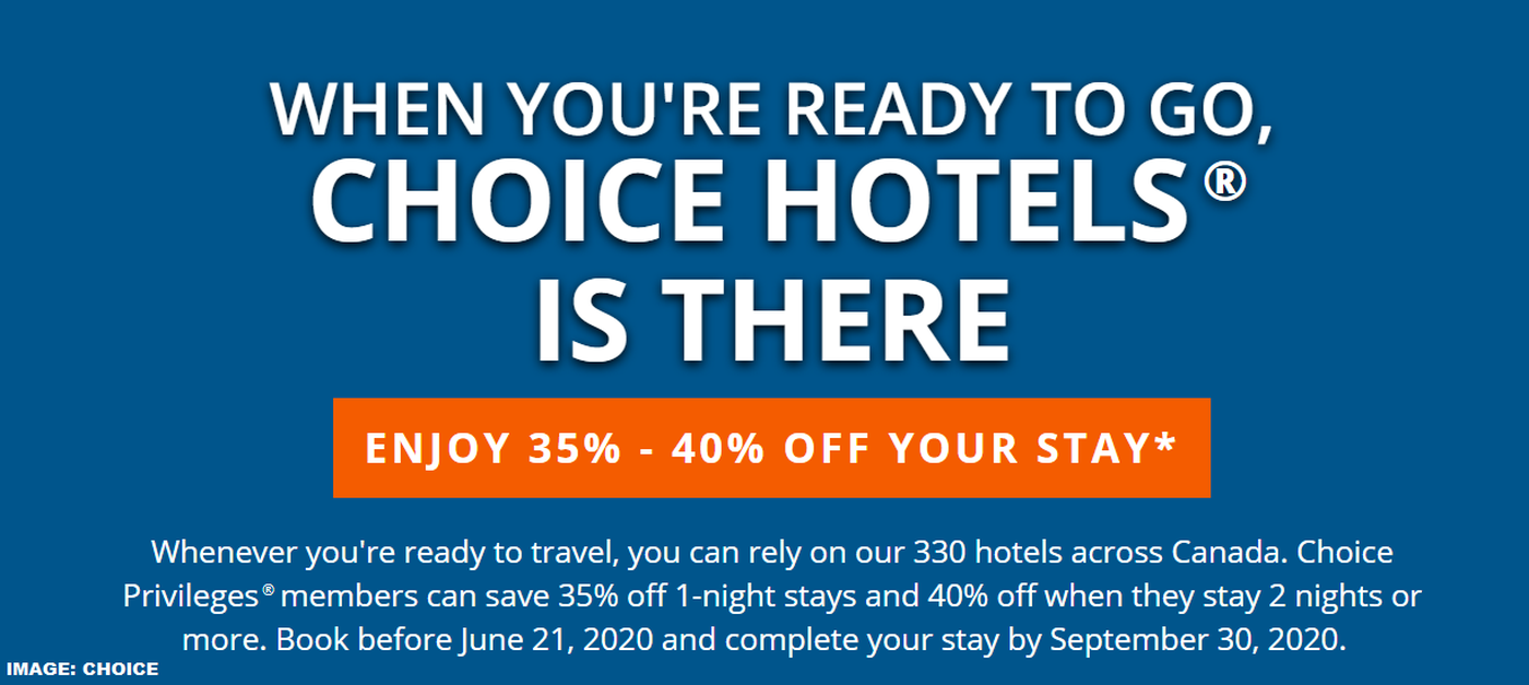 40 Off After Christmas 2020 Choice Canada Hotels 35%   40% Off Through September 30, 2020