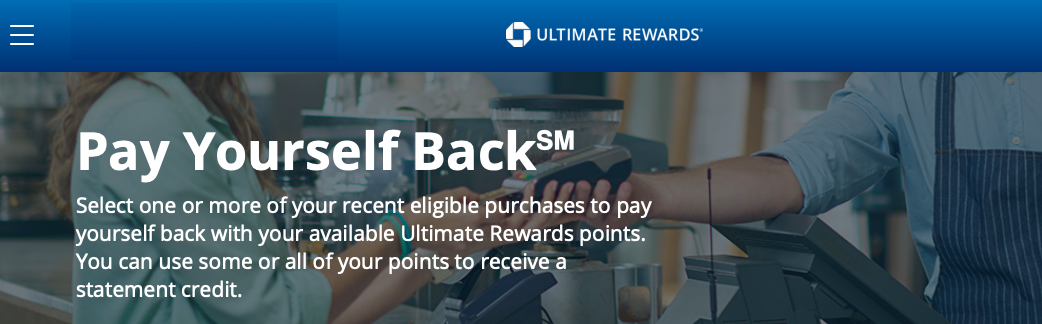 """Chase Ultimate Rewards """"Pay Yourself Back"""" - A Good Alternative To"""