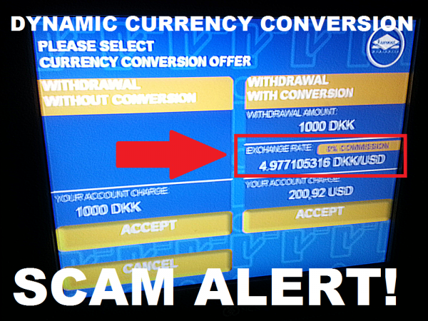 Atm Dynamic Currency Conversion Scam Copenhagen Airport Loyaltylobby