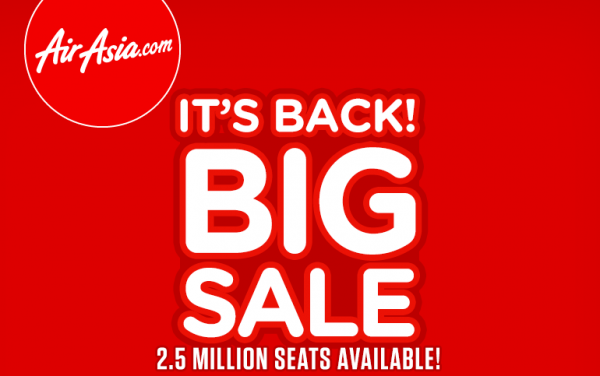 Airasia Big Sale For Travel Between January 5 July 31