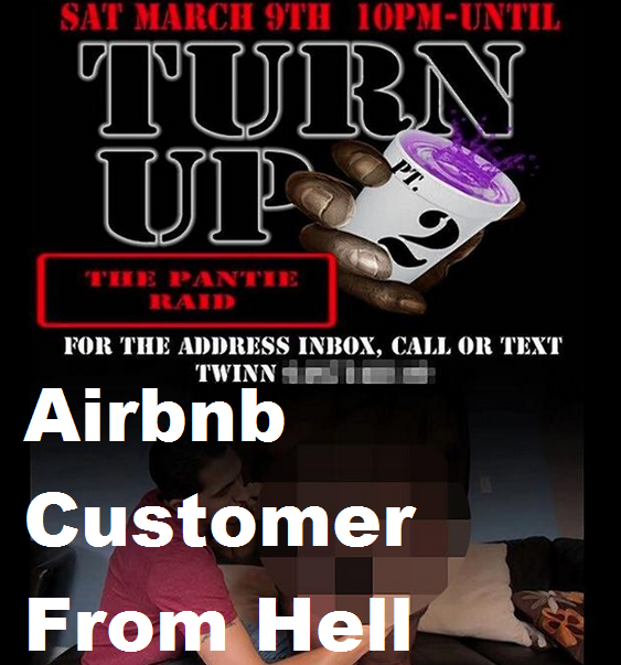 house party airbnb party flyer