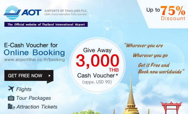 Asiatravel Aot Airports Of Thailand 3 000 Thb Vouchers For Air Hotels Land Packages Loyaltylobby
