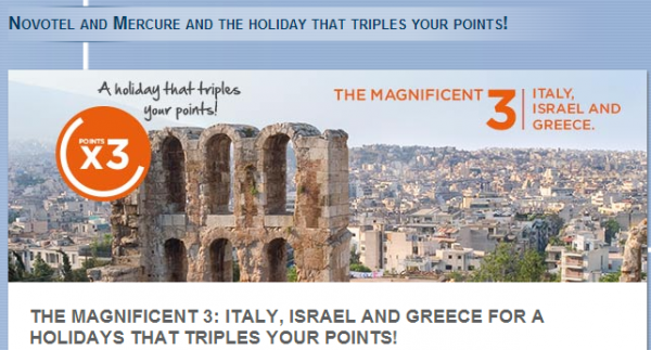 Le Club Accorhotels Italy Greece Israel Triple Points