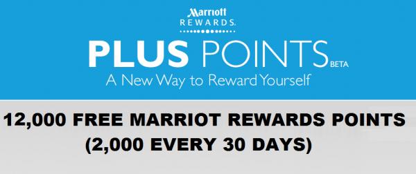 Marriott Rewards Pluspoints Up To 12 000 Free Points