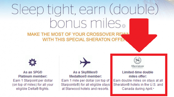 Spg Crossover Rewards Double Delta Miles Sheraton Stays April 2017