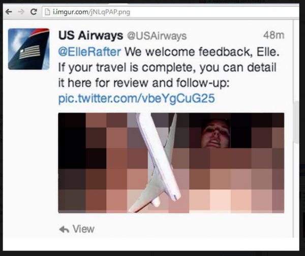 us airways takes tweeting to a new level sends very