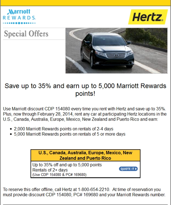 Best Rewards Program To Rent Car Through