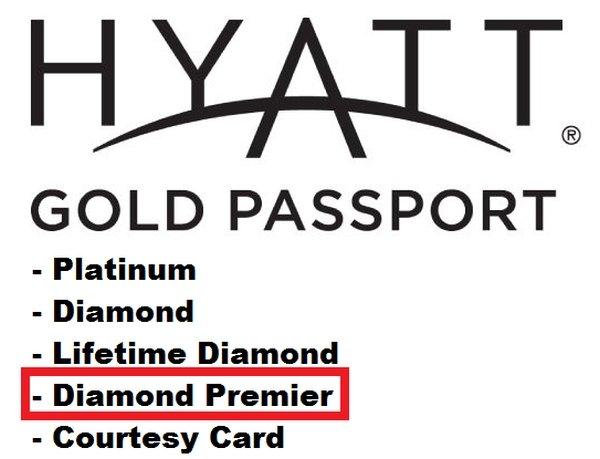Hyatt Gold Passport Diamond Premier