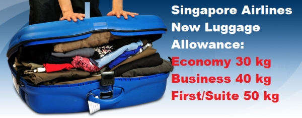 Singapore Airlines Ups The Checked Luggage Allowance To