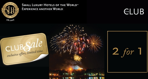 Small luxury hotels of the world 2 for 1 sale january for Slh of the world