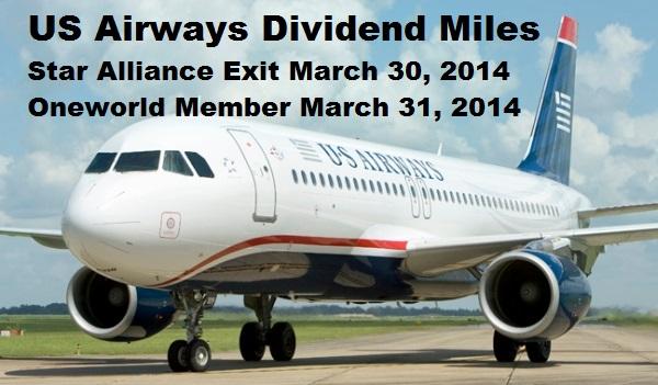 Us Airways Star Alliance Exit On March 30 Amp Oneworld